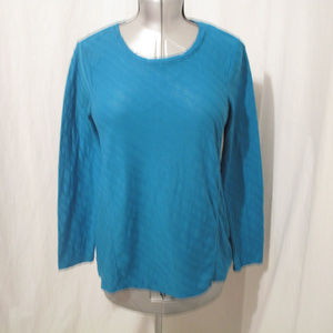 Texured Teal Blouse